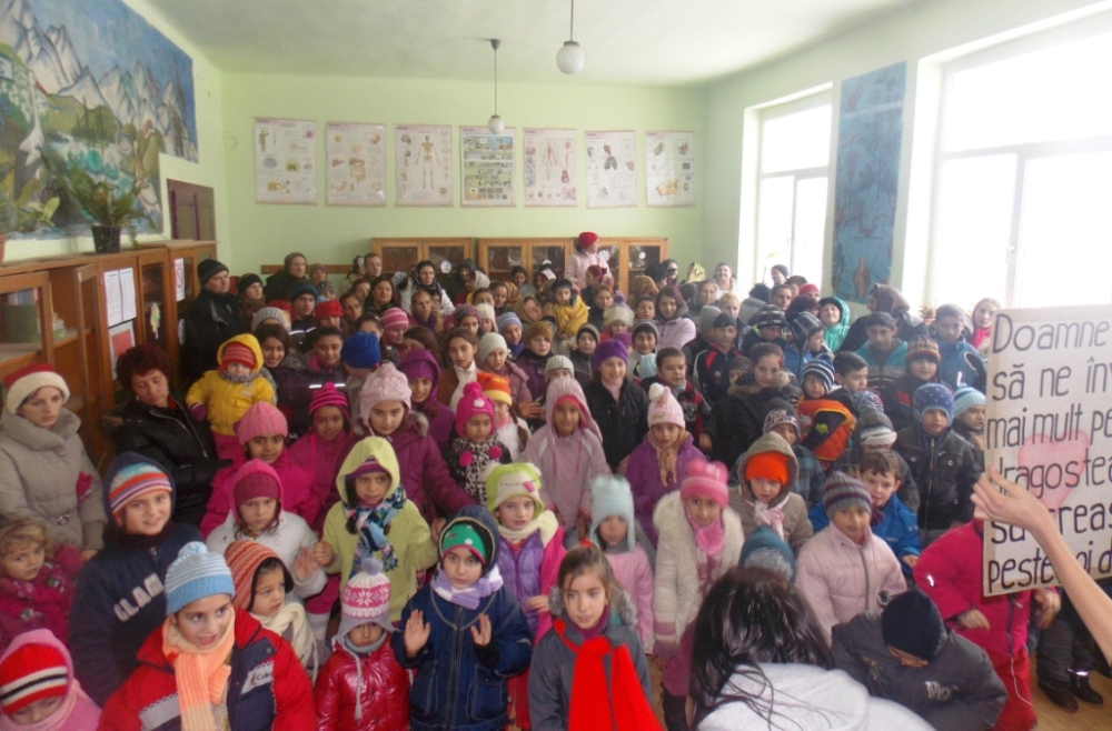 The program at the school in Nadeș